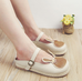 Cute rabbit retro word buckle shoes YV40367