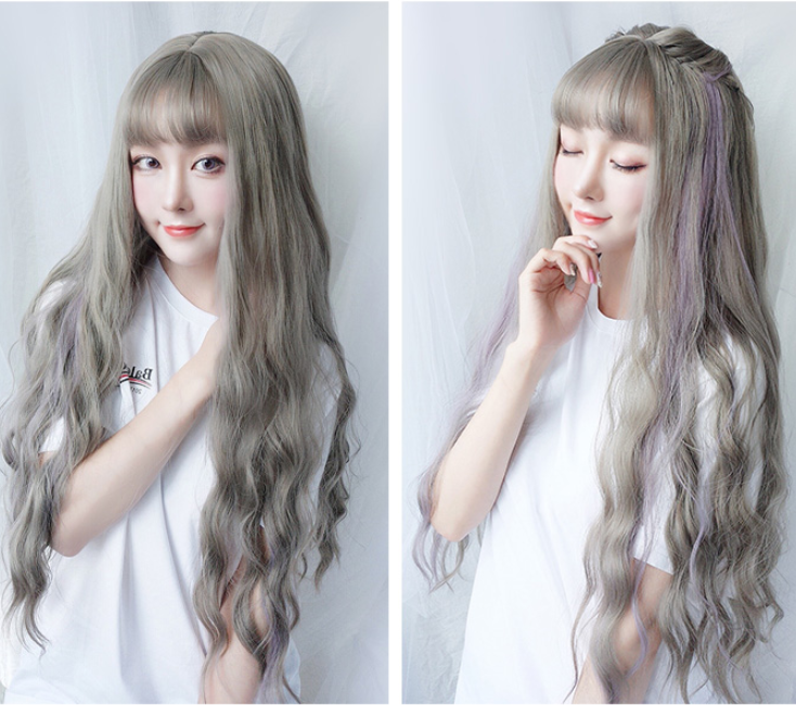 Cute big wave long roll wig YV40378