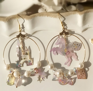 Unicorn Castle Asymmetric Earrings YV40384