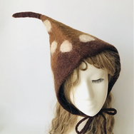 Handmade polka dot elf hat YV20126