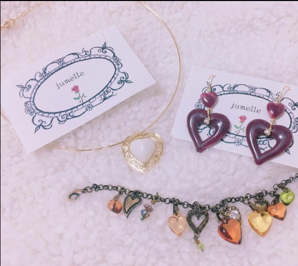Harajuku Retro Heart Ring Necklace YV40402