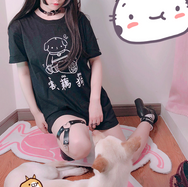 Japanese cute cat / dog T-shirt YV40415