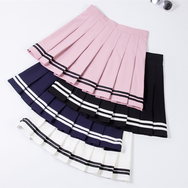 Japanese Navy High Waist Pleated Skirt YV40448