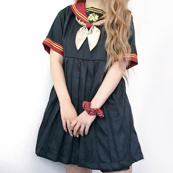 Review For Navy Collar Sailor Dress YV40127