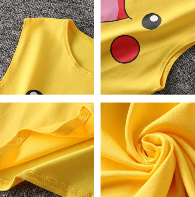 Cute Pikachu umbilical sling top YV40471