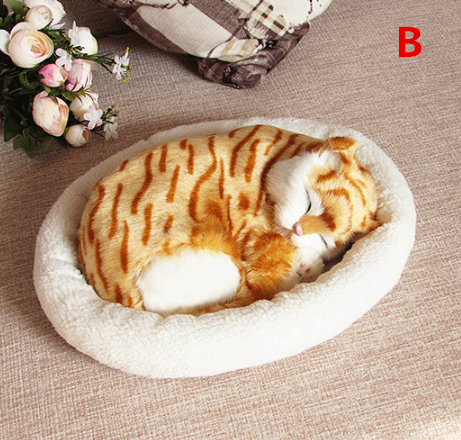 Cute breathing cat plush toy YV40476