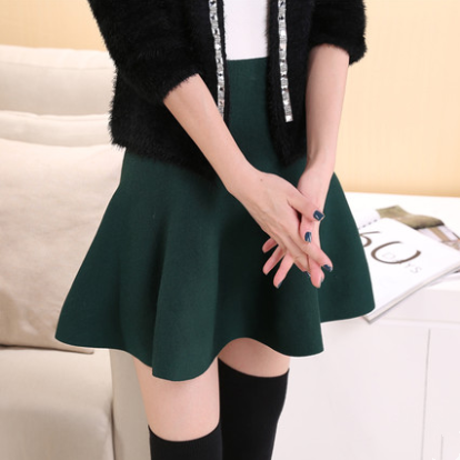 Korean Simple Pleated Skirt yv40507