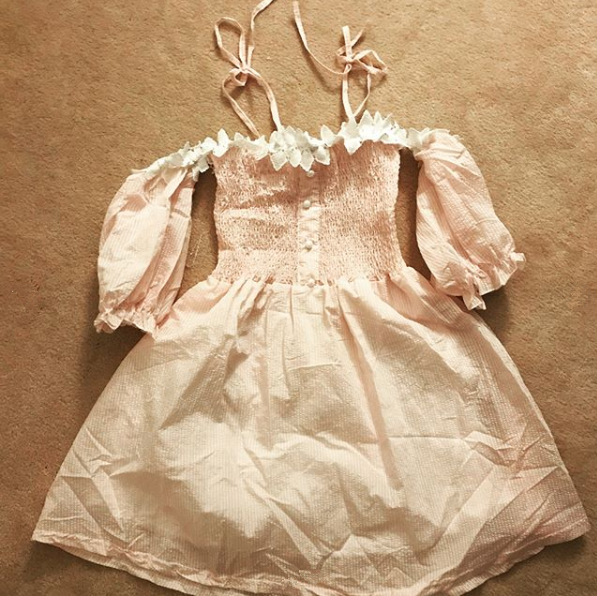 Review For Japanese Cute Sling Ruffled Dress YV40394