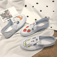 Cute animal strawberry canvas shoes yv40570