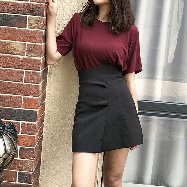 Sexy high waist short skirt yv40637