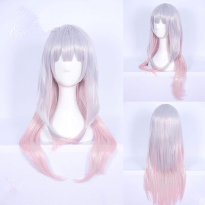 Cos gray-pink gradient wig yv40679