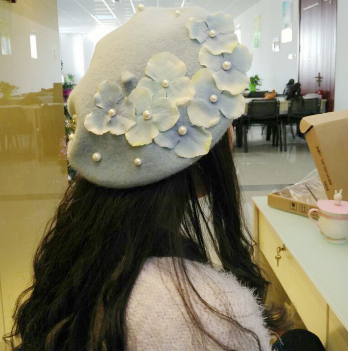 Flower Pearl Hairy Bailey Hat YV40707