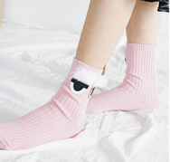Cute eyes wool warm tube socks YV40764