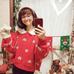 Cute heart red knit sweater YV40769