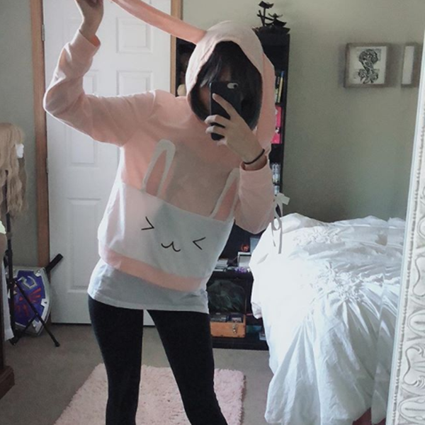 Review For Kawaii Bunny With Long Ears Hoodie YV2377