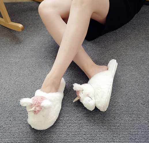 Plush Unicorn Home Cotton Slippers YV40796