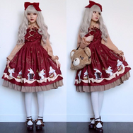 Cute vintage rabbit dress yv40728