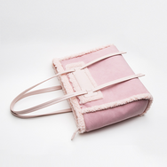Cute pink plush bag YV40885