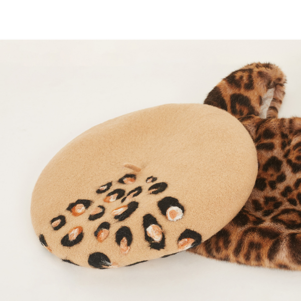 Chic leopard beret hat YV40908
