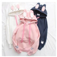 Rabbit Ear Embroidered Hoodie YV40975