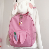 Cute carrot canvas backpack yv42015