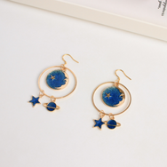 Star Planet Moon Earrings yv42016