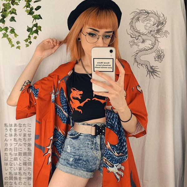 Review For Harajuku Printed Shirt YV40918