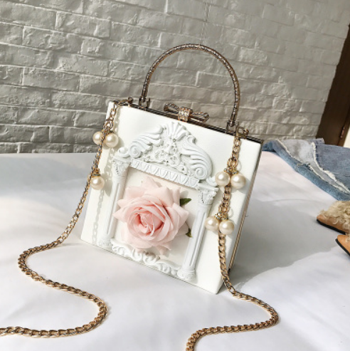 Vintage angel pearl chain bag yv42123