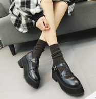 Japanese retro strappy shoes yv42124