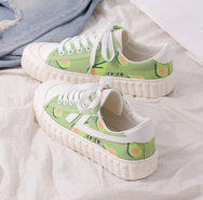 Matcha green avocado canvas shoes yv42145