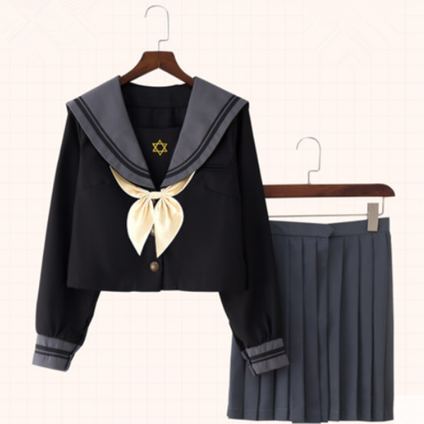 Japanese JK uniform cosplay set yv42293
