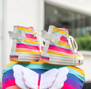 Rainbow angel wings canvas shoes yv42320