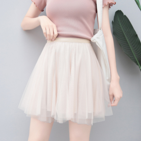 Cute mesh tutu skirt yv42327
