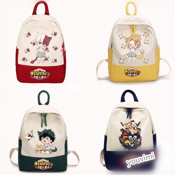 Cute hero college cartoon backpack yv42330