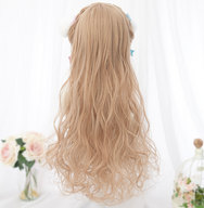 Lolita gold long roll wig yv42349