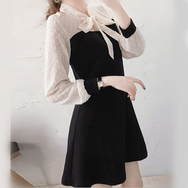 Cute chiffon bow dress yv42354