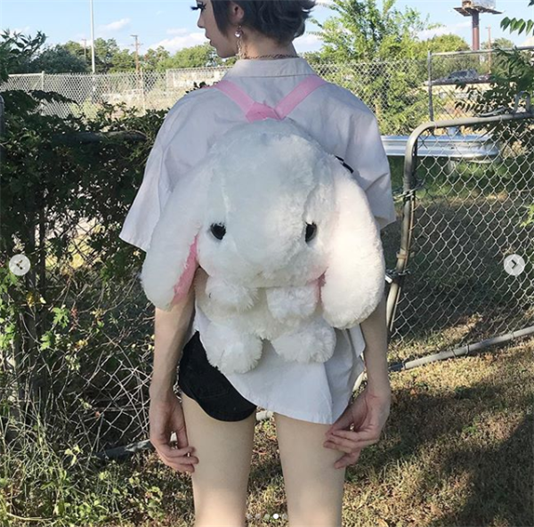 Review for Japanese lolita cute plush loppy eared rabbit backpack  YV169