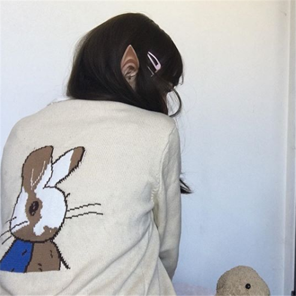Review for Cute Bunny Knit Cardigan Jacket YV40048