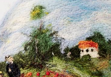 Monet wild poppy oil painting creative painter beret YV42425