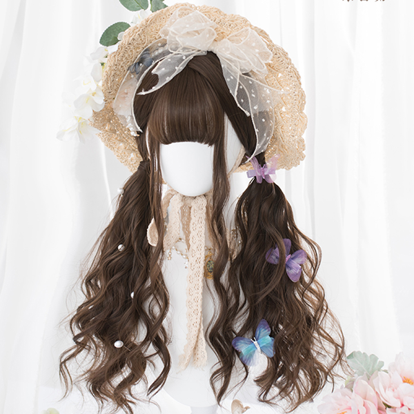 Japanese cute long curly hair yv42434
