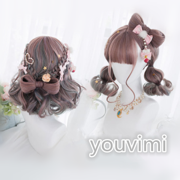 Japanese Lolita bow wig yv42435