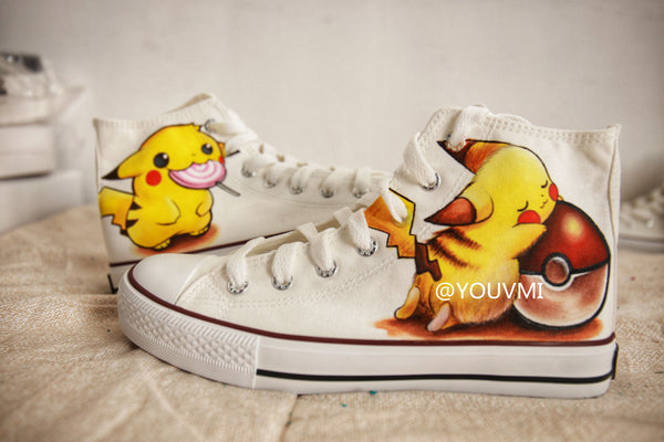 Youvimi handmade painting Pikachu shoes YV42443