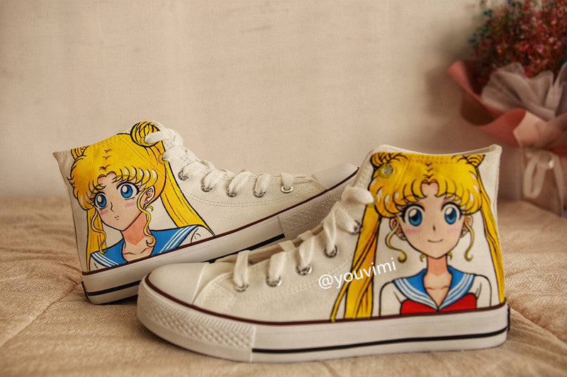 Youvimi Sailor Moon handmade painting  shoes YV42447