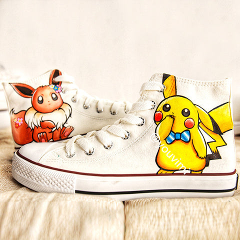 Youvimi cute  Pikachu painting shoes YV42449