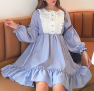 Japanese Lolita ruffled dress yv42454