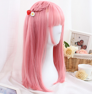 Cute pink straight wig yv42481
