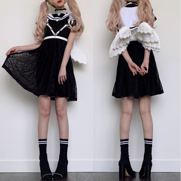 Review for Japanese lolita angel wings backpack yv42169