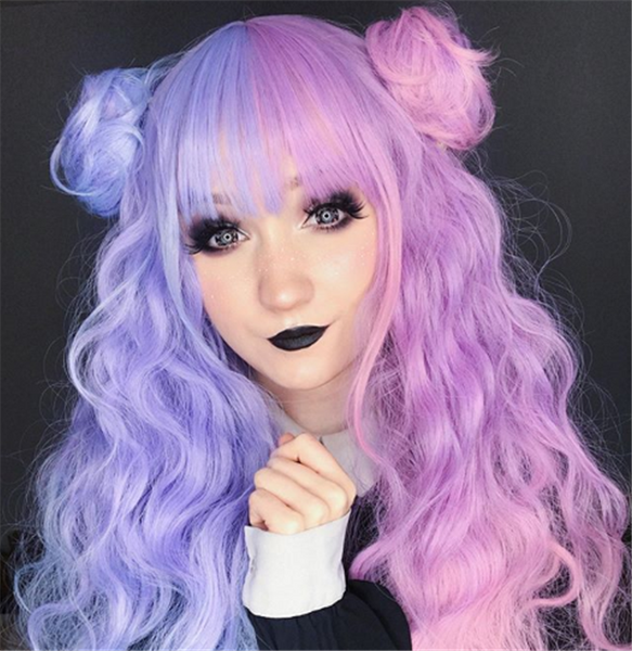 Lolita candy color long roll wig yv42342