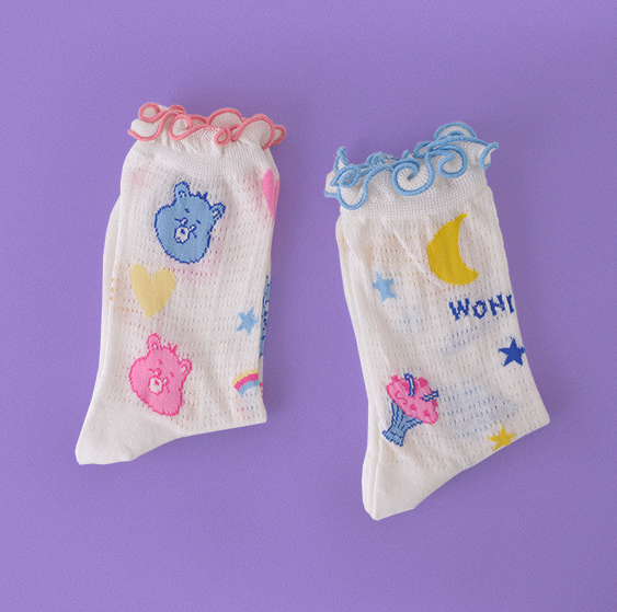 Cute cartoon bear socks yv42566