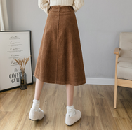 Japanese cute corduroy skirt yv42688